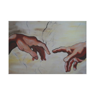 Me long lot of hands from the creation of Adam Canvas Print