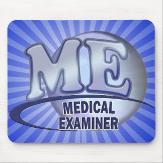 ME MEDICAL EXAMINER FUN BLUE LOGO MOUSE PAD