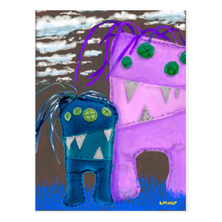 Me my monster - LMNOP art Postcards