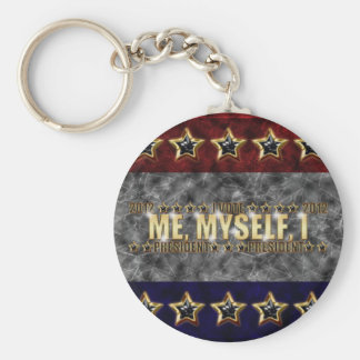 Me, Myself, I Stars and Stripes Basic Round Button Keychain