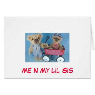 Me N My Lil Sis Note Card