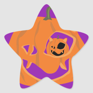 ME-OW-LANTERN STAR STICKER