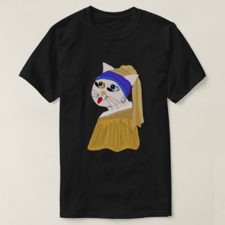Me ow with a Pearl Earring / Classic Series. T-Shirt
