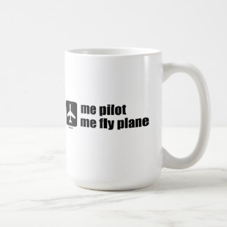 me pilot me fly plane coffee mug