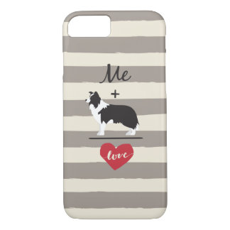 Me plus Border Collie equal Love Cute Phone Case