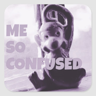 Me So Confused Monkey Sticker by JP Choate