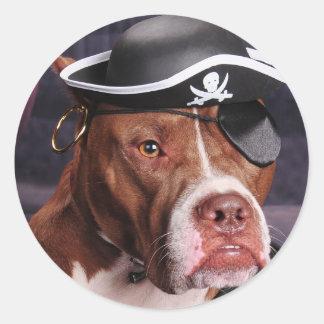 Me thinks I'm a Pirate! Classic Round Sticker