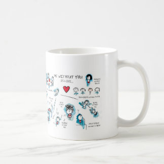 Me without you - Valentine - Love Classic White Coffee Mug