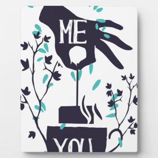 Me you love design plaque