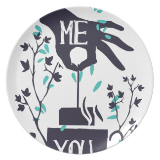 Me you love design plate