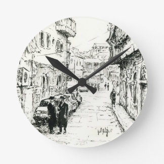 Mea Shearim, Jerusalem Israel, Ink Sketch Clock