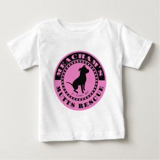 Meachams Mutts Logo Pink Baby T-Shirt