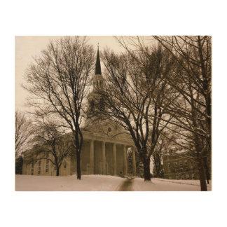 Mead Chapel, Middlebury Wood Print