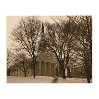 Mead Chapel, Middlebury Wood Prints