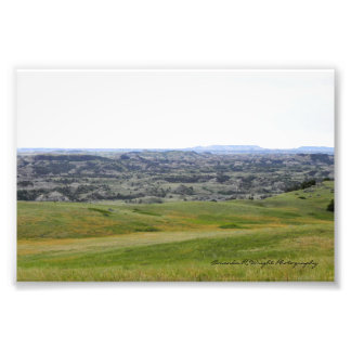 Meadow Badlands View Print