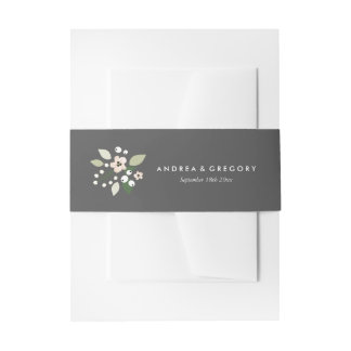 Meadow Blooms Invitation Belly Band