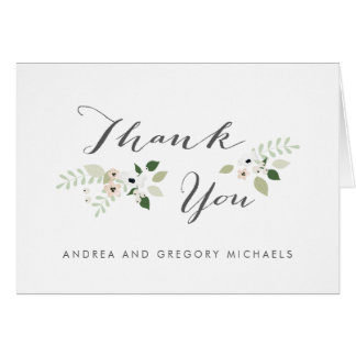 Meadow Blooms Thank You - white Card