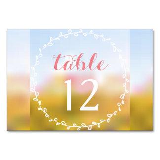 Meadow Bride Table Cards