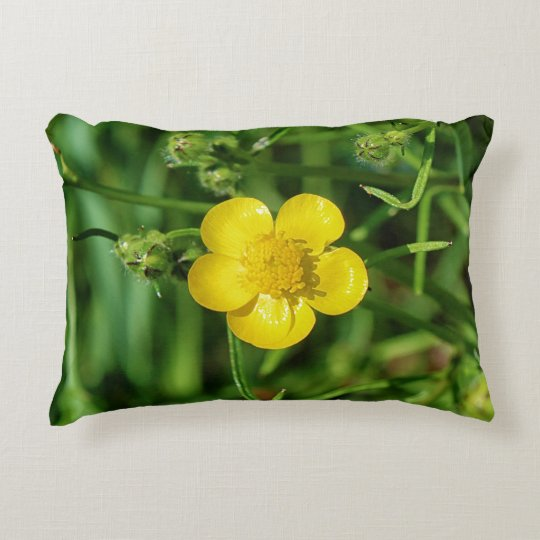 Meadow Buttercup Decorative Pillow
