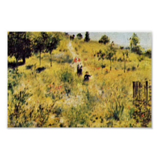 Meadow By Pierre-Auguste Renoir (Best Quality) Poster