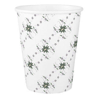 Meadow flower paper cup