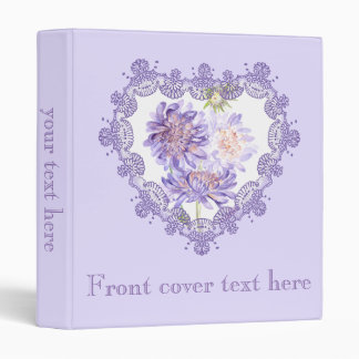 meadow flowers 3 ring binder