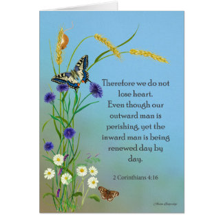 Meadow Flowers Watercolor Swallowtail Butterfly Card