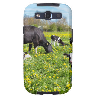 Meadow full of dandelions with grazing cows samsung galaxy s3 cover