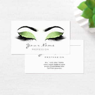 Meadow Glitter Makeup Artist Lashes Eco Cosmetic Business Card