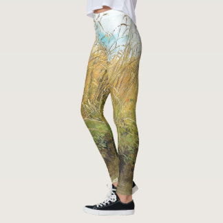 Meadow Grasses Wheat Field All Over Print Leggings