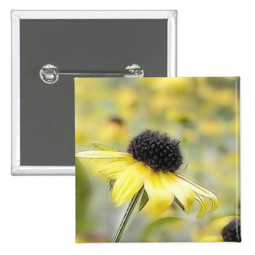 Meadow of Black Eyed Susans Pinback Buttons