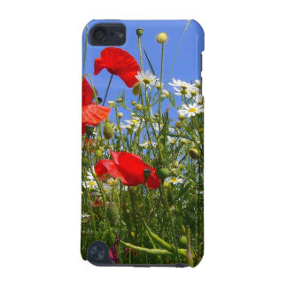 Meadow - Red Poppies and White Camomile Flowers iPod Touch 5G Cover