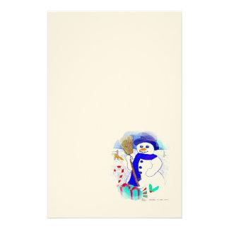 Meadow Snowman Customized Stationery