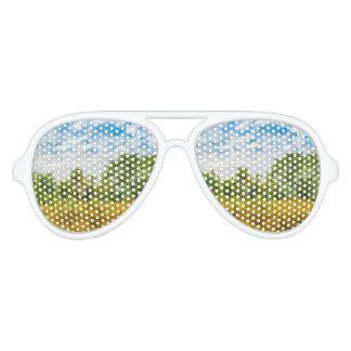 Meadow Tropical Landscape Scene, Guayaquil Aviator Sunglasses