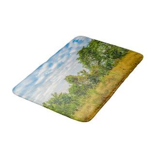 Meadow Tropical Landscape Scene, Guayaquil Bath Mat