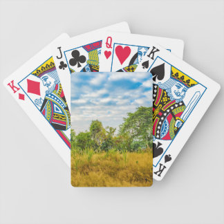 Meadow Tropical Landscape Scene, Guayaquil Bicycle Playing Cards