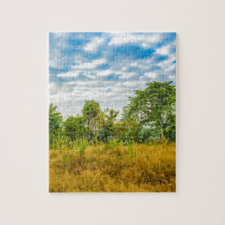 Meadow Tropical Landscape Scene, Guayaquil Jigsaw Puzzle