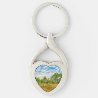 Meadow Tropical Landscape Scene, Guayaquil Keychain