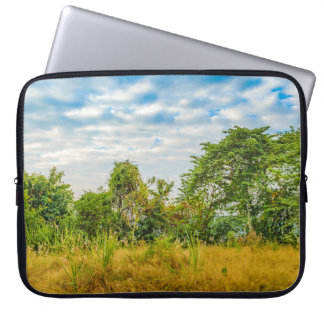 Meadow Tropical Landscape Scene, Guayaquil Laptop Sleeve