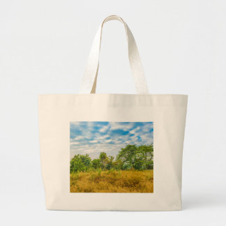 Meadow Tropical Landscape Scene, Guayaquil Large Tote Bag