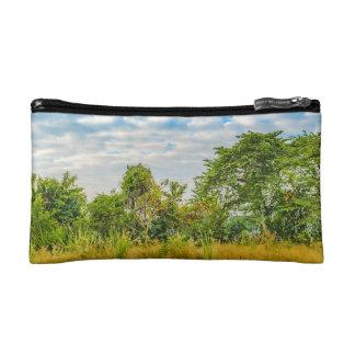 Meadow Tropical Landscape Scene, Guayaquil Makeup Bag
