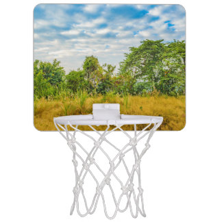 Meadow Tropical Landscape Scene, Guayaquil Mini Basketball Hoop