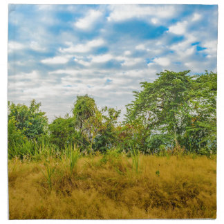 Meadow Tropical Landscape Scene, Guayaquil Napkin