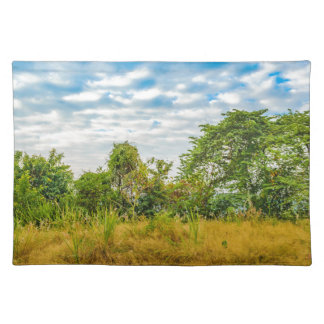 Meadow Tropical Landscape Scene, Guayaquil Placemat