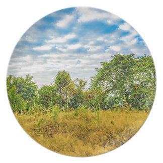 Meadow Tropical Landscape Scene, Guayaquil Plate