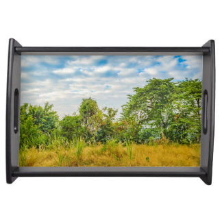 Meadow Tropical Landscape Scene, Guayaquil Serving Tray