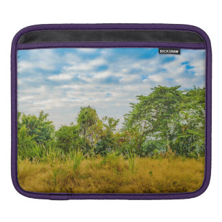 Meadow Tropical Landscape Scene, Guayaquil Sleeves For iPads