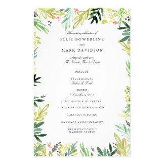 Meadow Wedding Program