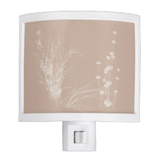 Meadow Wildflowers in Beige Nite Light