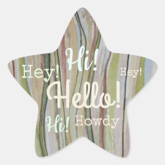 Meadowland Hello! Star Sticker